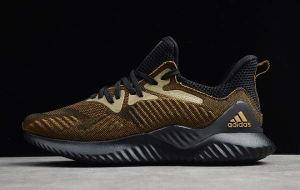 2020 adidas Alphabounce Beyond M Black/Metallic Gold CG4778