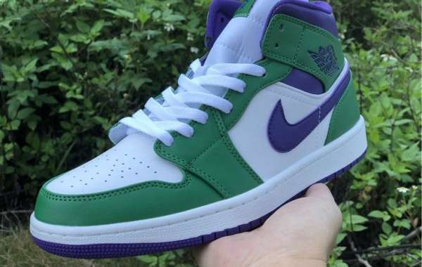 2020 Cheap Air Jordan 1 Mid Incredible Hulk Basketball Shoes 554724-300