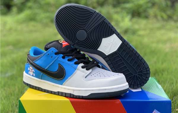 Buy 2020 New Nike SB Dunk Low x Instant Skateboards Grey Blue Shoes