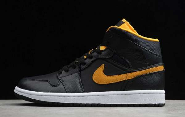 "CI9352-001 Air Jordan 1 Mid SE ""Black Gold"" Black/University Gold-White"