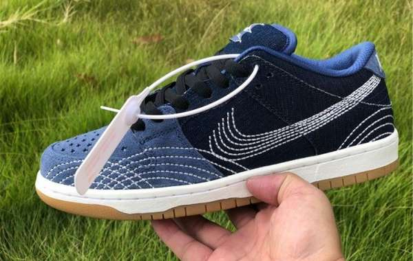 Nike SB Dunk Low Sashiko Mystic Navy Gum Light Brown-Sail For Sale CV0316-400