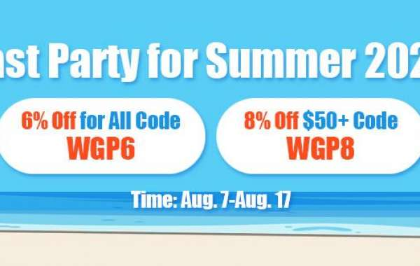 Up to 8% off world of warcraft Classic gold eu via visa as Last Party for Summer 2020 for All